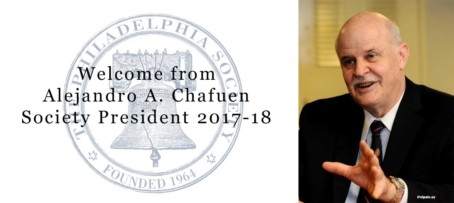 Welcome message from Society President, Alejandro A. Chafuen