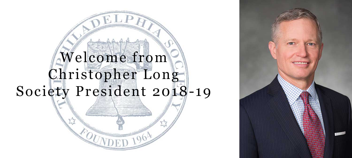 Welcome message from Society President, Christopher Long